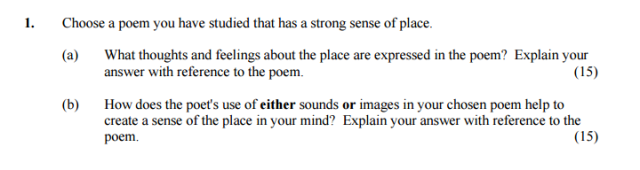 junior cert studied poetry essay ardgillancollegeenglish jc